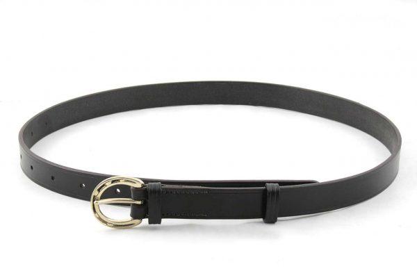 Cintura con fibbia a ferro di cavallo da 25 mm per equitazione.