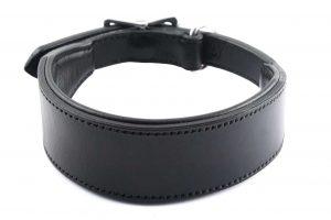 Collare largo in cuoio con imbottitura taglia L adatto a cani di grossa taglia.