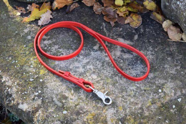 Guinzaglio a redine da 100 cm largo 12 mm con moschettone intercambiabile adatto a cani di taglia piccola e media.