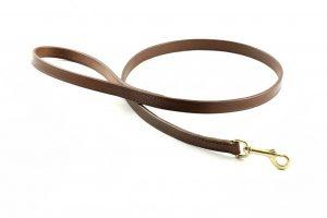 Guinzaglio da 100 cm taglia M largo 16 mm in cuoio adatto a cani di taglia media.