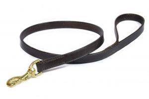 Guinzaglio da 100 cm taglia L in cuoio da 19 mm adatto a cani di taglia large.