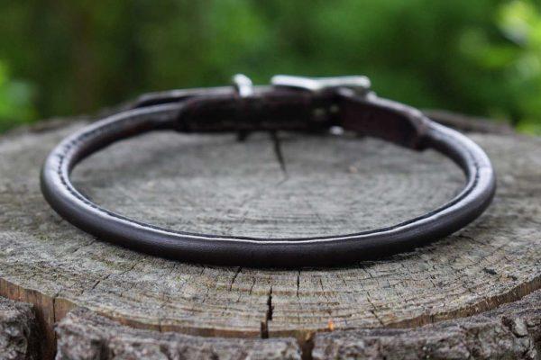 Collari su misura Porta medaglietta in cuoio tubolare