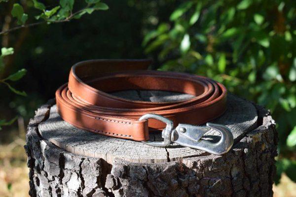 Lunghina in cuoio per cani da 200 cm larga 19 mm per cani di taglia media e grossa